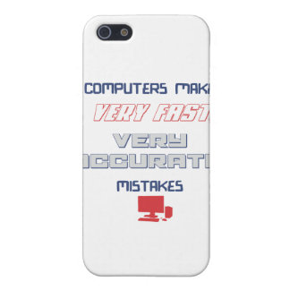 Computers make accurate mistakes iPhone 5 cover