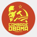 Comrade Obama Round Stickers