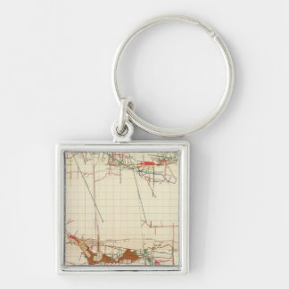 Comstock Mine Maps Number III Silver-Colored Square Key Ring