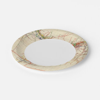Comstock Mine Maps Number IV 7 Inch Paper Plate
