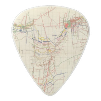 Comstock Mine Maps Number IV Acetal Guitar Pick