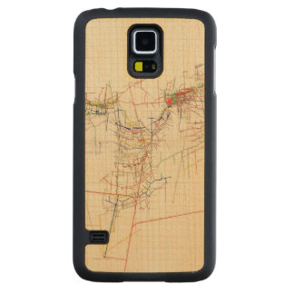 Comstock Mine Maps Number IV Carved Maple Galaxy S5 Case