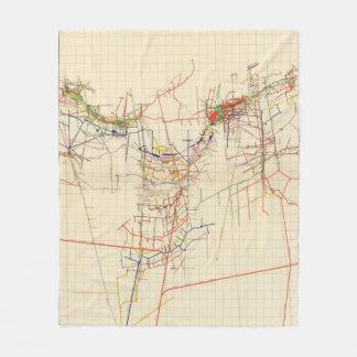 Comstock Mine Maps Number IV Fleece Blanket