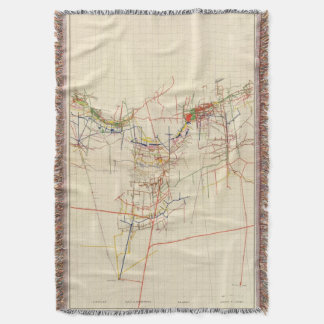 Comstock Mine Maps Number IV Throw Blanket