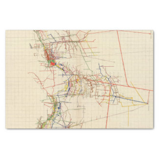 Comstock Mine Maps Number IV Tissue Paper