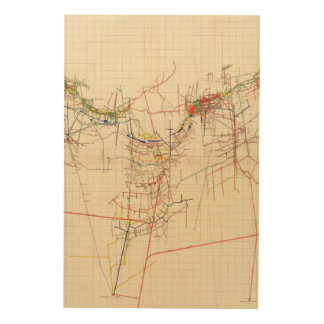 Comstock Mine Maps Number IV Wood Wall Art