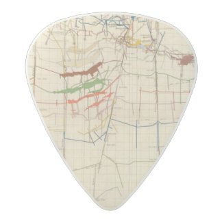 Comstock Mine Maps Number VI Acetal Guitar Pick