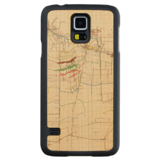 Comstock Mine Maps Number VI Carved Maple Galaxy S5 Case