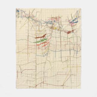 Comstock Mine Maps Number VI Fleece Blanket