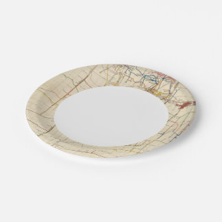 Comstock Mine Maps Number VI Paper Plate