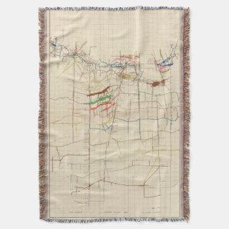 Comstock Mine Maps Number VI Throw Blanket
