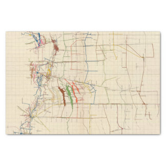 Comstock Mine Maps Number VI Tissue Paper
