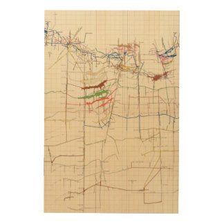Comstock Mine Maps Number VI Wood Wall Decor