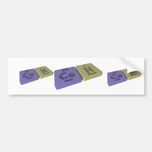 Con as Co Cobalt and N Nitrogen Bumper Sticker
