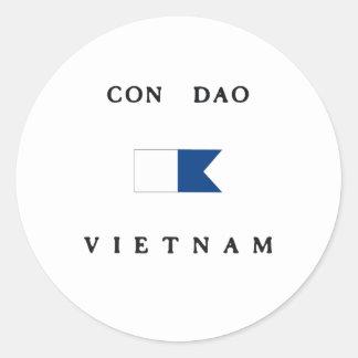 Con Dao Vietnam Alpha Dive Flag Round Sticker