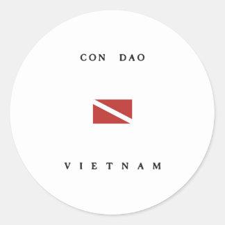 Con Dao Vietnam Scuba Dive Flag Round Sticker