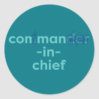 Con Man In Chief Round Sticker