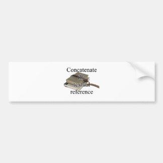 Concatenate Bumper Sticker