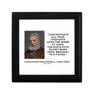 Concentrate All Your Thoughts Upon Work Bell Quote Small Square Gift Box
