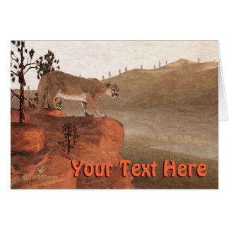 Concentration - Cougar Greeting Card