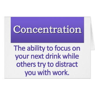 Concentration Definition Greeting Card