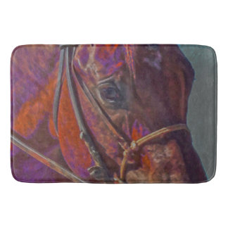 Concentration in Color Bath Mat Western Horse