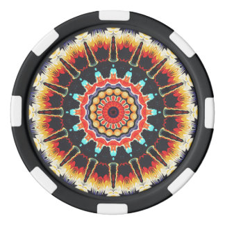 Concentric Balance of Colors Poker Chip Set