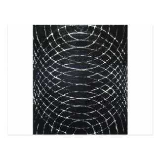 Concentric Black Ripples (black minimalism) Postcard