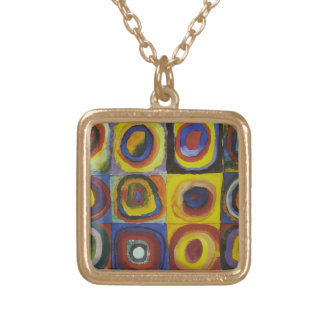 Concentric Circles, 1913 Gold Plated Necklace