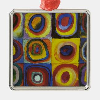 Concentric Circles, 1913 Silver-Colored Square Decoration