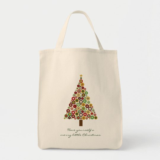 Concentric Circles Christmas Tree Tote