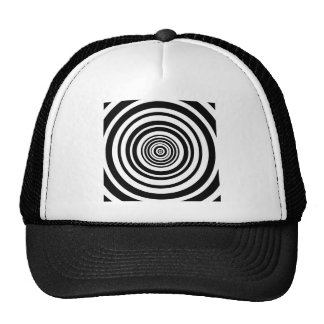 Concentric Circles Graphic Design Mesh Hats