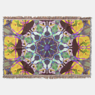Concentric Lines of Color Throw Blanket