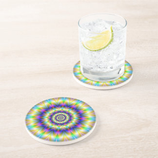 Concentric Neon Rings Coaster