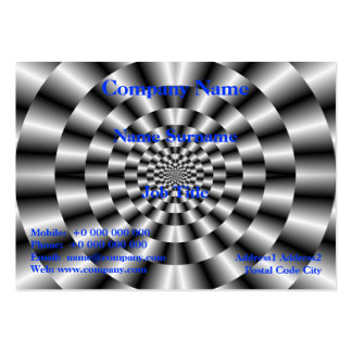 Concentric Rings in Monochrome Card Business Card Templates