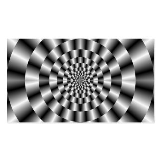 Concentric Rings in Monochrome Card Business Cards