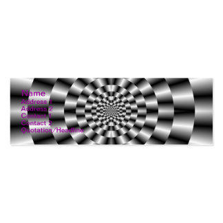 Concentric Rings in Monochrome Card Pack Of Skinny Business Cards