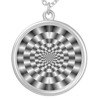 Concentric Rings in Monochrome Necklace