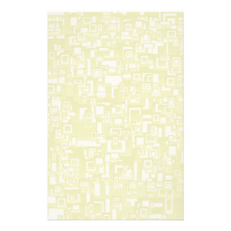 Concentric Yellow Geometric Abstract Art Stationery Design