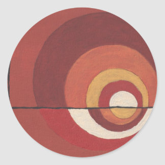 ConcentricCircles Abstract Classic Round Sticker