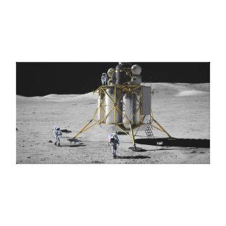 Concept Art of Altair Lunar Lander and Astronauts Canvas Print