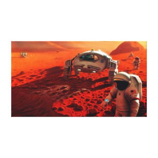 Concept Art of Future Manned Mars Mission Canvas Print
