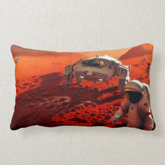 Concept Art of Future Manned Mars Mission Lumbar Pillow