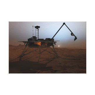 Concept Art of Phoenix Mars Lander at Twilight Canvas Print