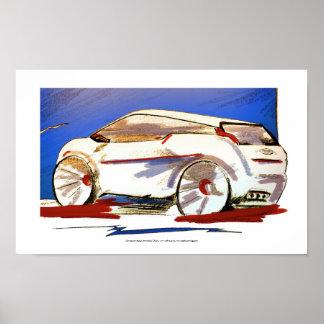 Concept car design poster art