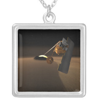 Concept for Mars Volcanic Emission Life Scout Silver Plated Necklace