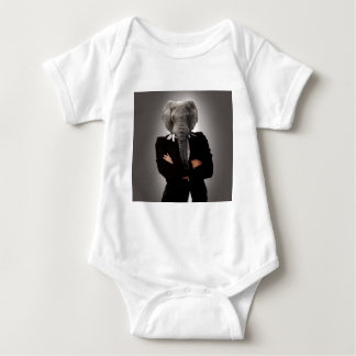 Concept image of a businesswoman. baby bodysuit
