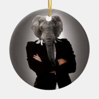 Concept image of a businesswoman. christmas ornament
