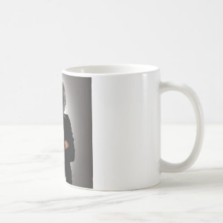 Concept image of a businesswoman. coffee mug