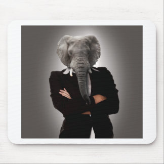 Concept image of a businesswoman. mouse mat
